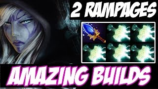 2 RAMPAGES, 1 MATCH - Drow Ranger with 5 Mjollnir and Aghanim -  Amazing Builds vol 69 - Dota 2