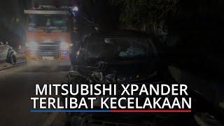 Moncong Mitsubishi Xpander Ringsek Setelah 'Adu Kepala' dengan Pikap L300, Penumpang Patah Kaki