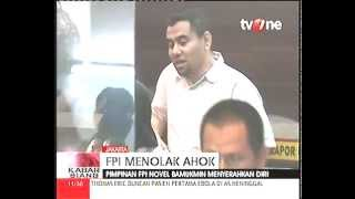 Buronan Demo Tolak Ahok Ketua FPI Novel Bamukmin Menyerahkan Diri