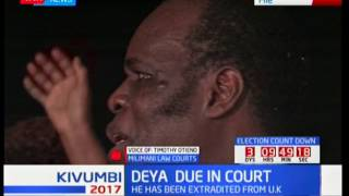 Controversial Bishop Gilbert Deya deported back in Kenya and now in Milimani Court
