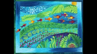 Under The Sea Tutorial - A Fused ART QUILT By Frieda Anderson