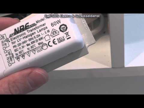 Elektroinstallation - Reparatur einer Spiegelschrankbeleuchtung