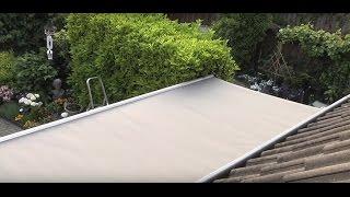 Zonweringdoek vervangen van een handbediend zonnescherm