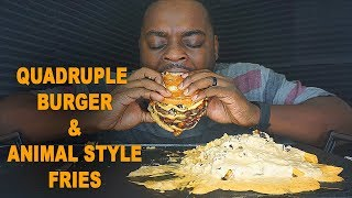 BEAST MODE MAKES A BURGER & FRIES | AMAZING REACTION