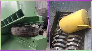 Monster Crusher Crushes All Scrap - Powerful Iron Cutter - Modern Cutting Machine