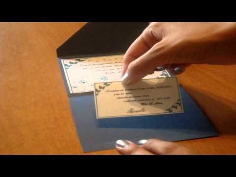 Tarjetas de invitacion para fiestas de 15 años o casamientos