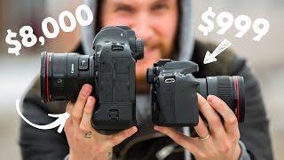 $1,000 Camera VS $8,000 Camera!! - Video Youtube
