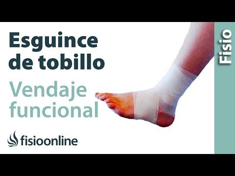 Vendaje funcional para esguince o torcedura de tobillo