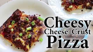 Keto Cheesy Cheese Crust Pizza