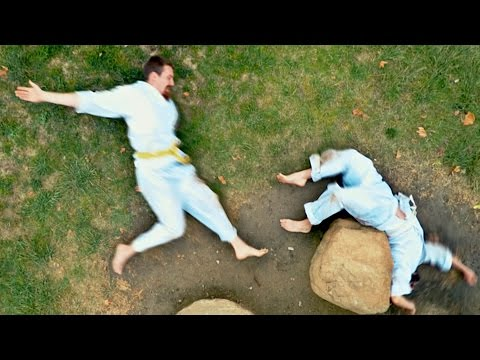 Hilarious Stop-Motion Video Of Two Guys Karate Fighting On The Ground