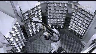 Hermle Robotersystem RS 05 mit Zellenspeicher/Kanban