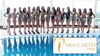 Miss Earth Chile 2015 Official Swimsuit Photoshoot of Contestants