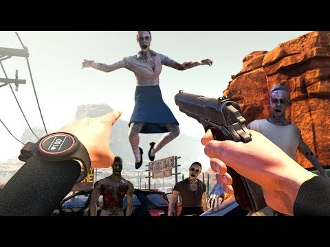 My FAVORITE VIRTUAL REALITY Zombie Apocalypse Game (Arizona Sunshine Funny Moments)