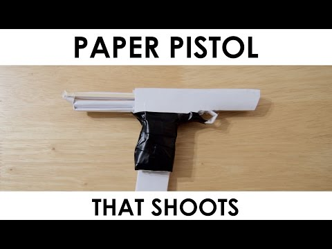 How to make a Paper Gun that Shoots - With Trigger (POWERFUL)