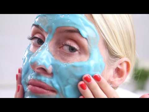 Application et effets du masque Hyaluronic Marine Hydrating Modeling Mask