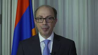 """Video message of H.E. Mr. Ara Aivazian, Minister of Foreign Affairs of Armenia, at the virtual event entitled """"Mass Media in Genocide Prevention: The Promise and Peril of the Digital Age"""""""