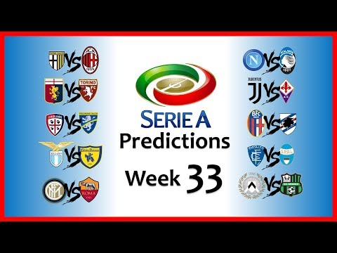 2018-19 SERIE A PREDICTIONS - WEEK 33
