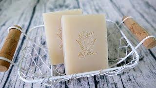 蘆薈洗顏皂DIY - how to make aloe vera handmade soap - 手工皂