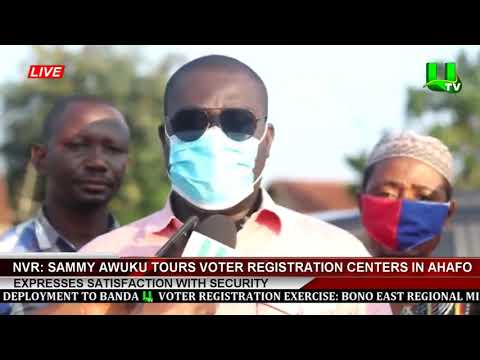 NVR: Sammy Awuku Tours Voter Registration Centers In Ahafo