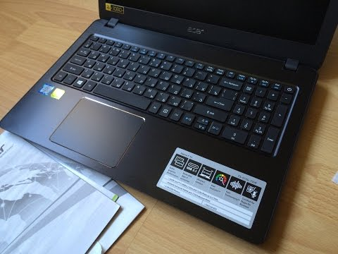 ACER Aspire F15 F5-573G i7 2,5Ghz up to 3,1Ghz 6GB DDR4 2GB GDDR5 1TB HDD with empty SSD slot-unbox