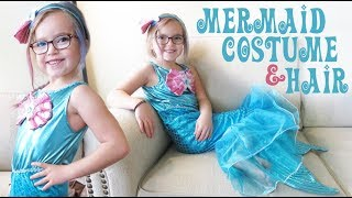 Mermaid Halloween Costume and Hair Color Mascara! | Crazy8Family