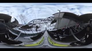 Skispringer im 360°-Video im Nordic Montafon Sportzentrum