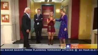 Trish Stratus & Ric Flair visit Australia's Today Show (Jun 2006)