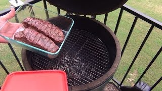 Grilled Steaks on the Big Green Egg