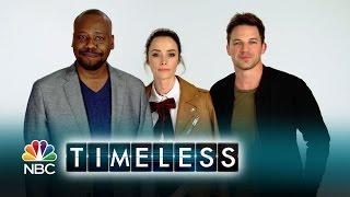 Abigail, Malcolm et Matt citent les 5 choses cool avec Timeless (VO)