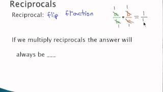 Multiply and Divide Fractions - Reciprocals