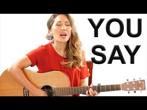 You Say - Lauren Daigle EASY Guitar Tutorial With Fingerpicking And Play Along Mp3