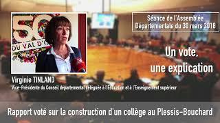 Vote de la construction d'un collège de 600 places au Plessis Bouchard