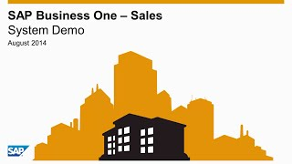 SAP Business One – Sales