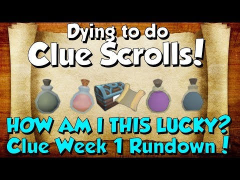 Clue Week 1 Round-up. I GOT ANOTHER DROP BTW! [Runescape 3] Dying to do Clue scrolls!