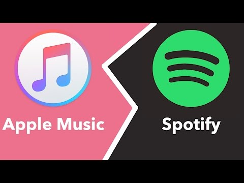 a comparison of the music streaming service spotify and apple streaming technology