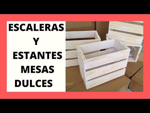 RECIPIENTES Y ESCALERAS PARA LAS MESAS DULCES/ ARMAR LAS MESAS DULCES