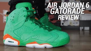 AIR JORDAN 6 GATORADE GREEN REVIEW