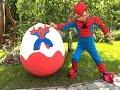 СУПЕР Spiderman Спайдермен Человек Паук Большой Киндер от Super Artem Giant Egg Spiderman