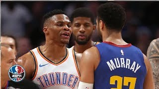 Russell Westbrook, Jamal Murray scrum caps off Nuggets