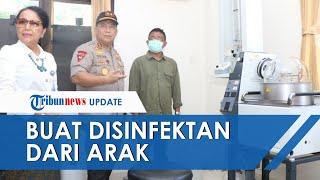 Polda Bali Bekerjasama dengan Unud Produksi Cairan Disinfektan dan Hand Sanitizer dari Arak Sitaan