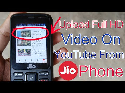 how to upload full hd video on youtube in jiophone upload