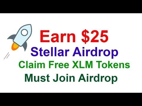 Супер Airdrop! Как получить 25$ на кошелёк в монете Stellar?! Не пропусти!