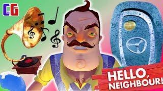 Hello Neighbor NEW SECRETS HELLO NEIGHBOR Frozen globe guitar and gramophone Walkthrough ACT 3