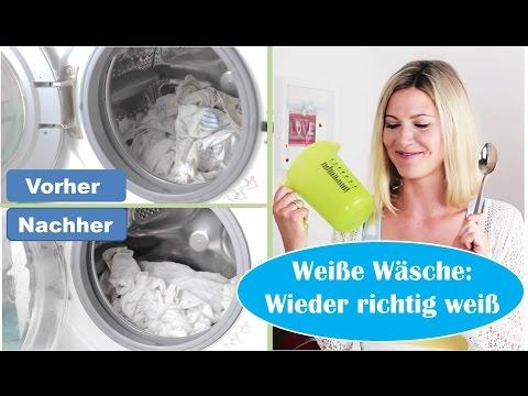 Weiße Wäsche: Wieder richtig weiß?! | Hausmittel | Ohne Chemie | Grauschleier | Flecken | Deoflecken