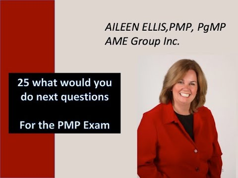 PMP Exam Prep 25 What would you do next questions with Aileen ...