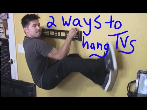 2 ways to hang TV on wall mount into stud and drywall review