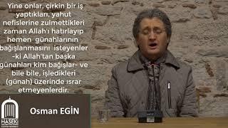 Osman EGİN Hocamızdan Aşr-ı Şerif