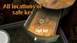 All locations of safe key 🗝 in the game granny 3 || #Granny3#Alllocationsofsafekey