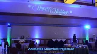 Winter Wonderland / Frozen Theme Lighting & Snowfall Projection by Karma Event Lighting