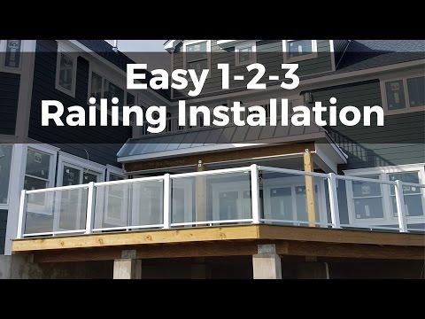 Easy 1-2-3 Installation | Regal ideas Aluminum Railing